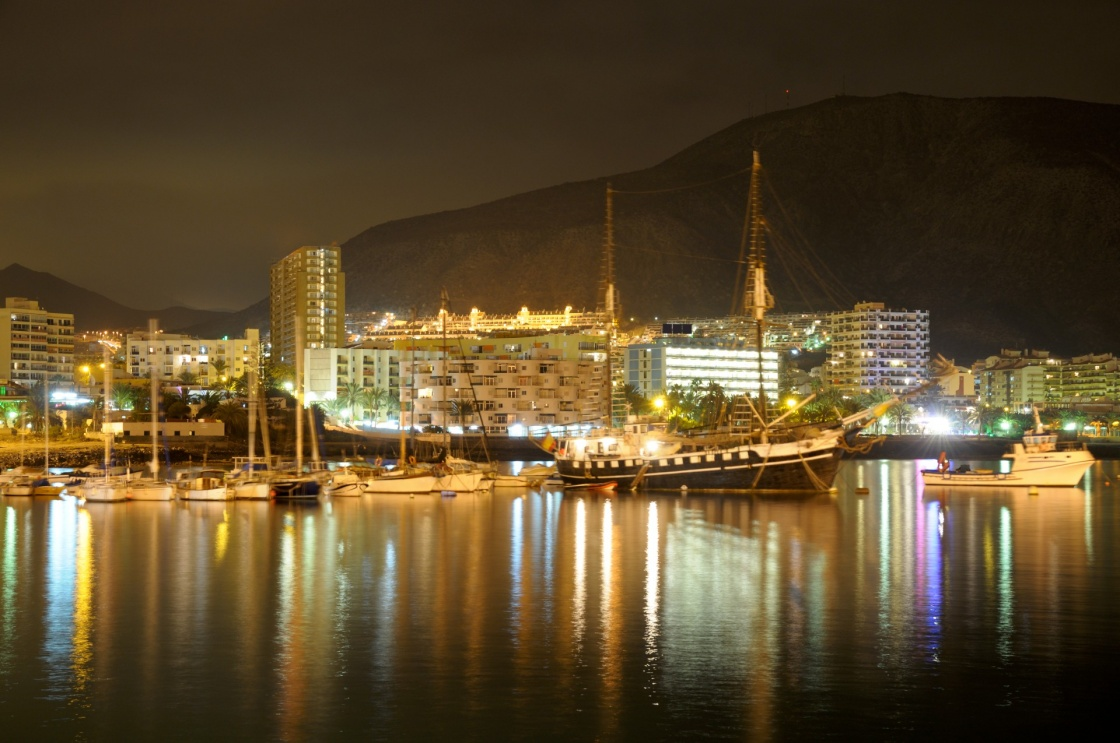 'Los Cristianos at night. Canary Island Tenerife, Spain' - Tenerife